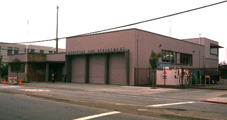 fire engine garage view  from street